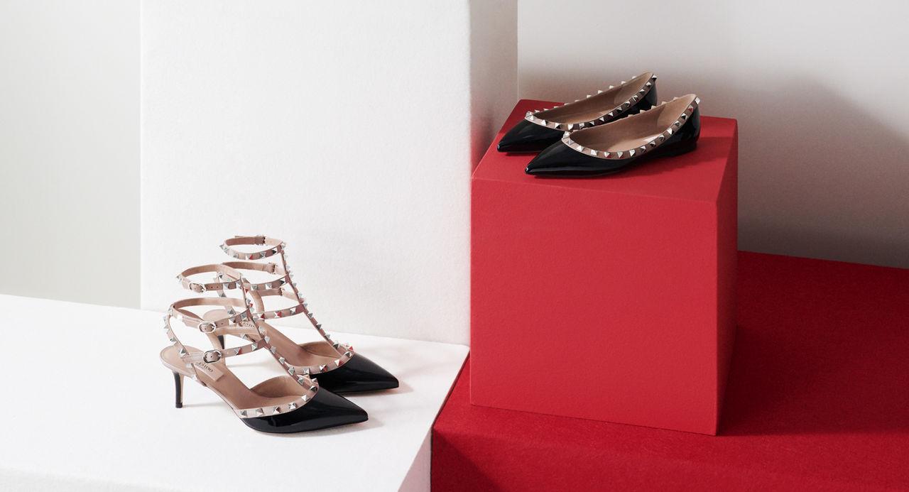 1fecca5c1df9f Valentino Garavani Rockstud shoes: heels & flats | Valentino Online ...